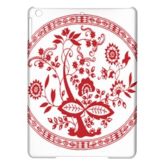 Red Vintage Floral Flowers Decorative Pattern iPad Air Hardshell Cases