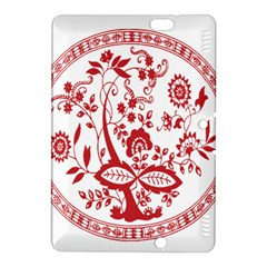 Red Vintage Floral Flowers Decorative Pattern Kindle Fire HDX 8.9  Hardshell Case