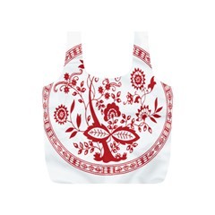 Red Vintage Floral Flowers Decorative Pattern Full Print Recycle Bags (s)