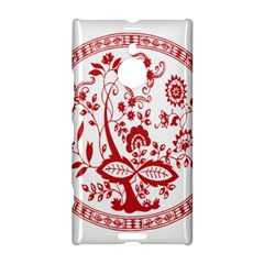 Red Vintage Floral Flowers Decorative Pattern Nokia Lumia 1520