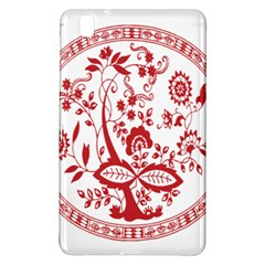 Red Vintage Floral Flowers Decorative Pattern Samsung Galaxy Tab Pro 8 4 Hardshell Case