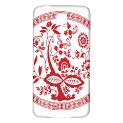 Red Vintage Floral Flowers Decorative Pattern Samsung Galaxy S5 Back Case (White)
