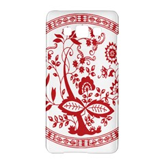 Red Vintage Floral Flowers Decorative Pattern Samsung Galaxy A5 Hardshell Case