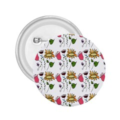 Handmade Pattern With Crazy Flowers 2.25  Buttons