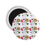 Handmade Pattern With Crazy Flowers 2.25  Magnets Front
