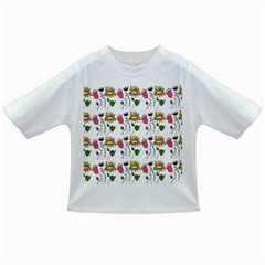 Handmade Pattern With Crazy Flowers Infant/toddler T Shirts