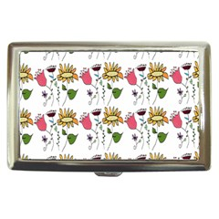 Handmade Pattern With Crazy Flowers Cigarette Money Cases
