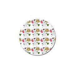 Handmade Pattern With Crazy Flowers Golf Ball Marker (4 Pack)