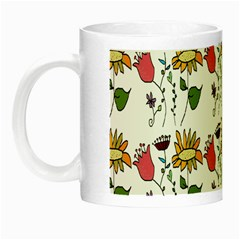 Handmade Pattern With Crazy Flowers Night Luminous Mugs