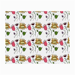 Handmade Pattern With Crazy Flowers Small Glasses Cloth (2 Side)