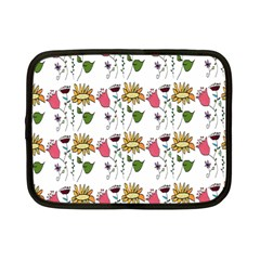 Handmade Pattern With Crazy Flowers Netbook Case (Small)