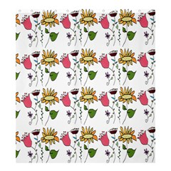 Handmade Pattern With Crazy Flowers Shower Curtain 66  X 72  (large)