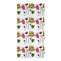 Handmade Pattern With Crazy Flowers Shower Curtain 36  X 72  (stall)