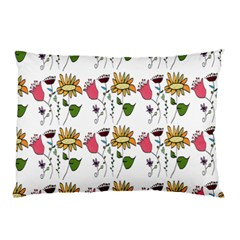 Handmade Pattern With Crazy Flowers Pillow Case (Two Sides)
