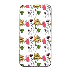Handmade Pattern With Crazy Flowers Apple Iphone 4/4s Seamless Case (black)