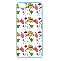 Handmade Pattern With Crazy Flowers Apple Seamless iPhone 5 Case (Color)