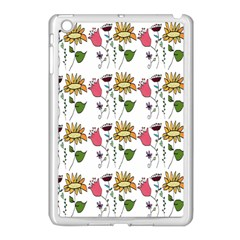 Handmade Pattern With Crazy Flowers Apple iPad Mini Case (White)