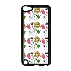 Handmade Pattern With Crazy Flowers Apple iPod Touch 5 Case (Black)