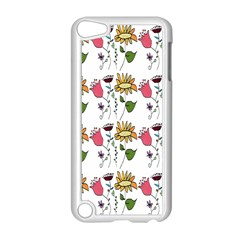 Handmade Pattern With Crazy Flowers Apple iPod Touch 5 Case (White)