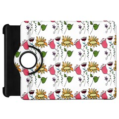 Handmade Pattern With Crazy Flowers Kindle Fire HD 7