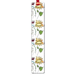Handmade Pattern With Crazy Flowers Large Book Marks