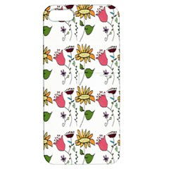 Handmade Pattern With Crazy Flowers Apple iPhone 5 Hardshell Case with Stand