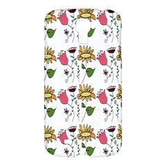 Handmade Pattern With Crazy Flowers Samsung Galaxy S4 I9500/I9505 Hardshell Case