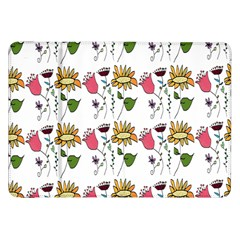 Handmade Pattern With Crazy Flowers Samsung Galaxy Tab 8 9  P7300 Flip Case