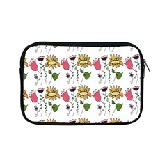 Handmade Pattern With Crazy Flowers Apple iPad Mini Zipper Cases