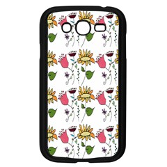 Handmade Pattern With Crazy Flowers Samsung Galaxy Grand DUOS I9082 Case (Black)