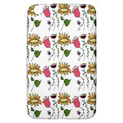 Handmade Pattern With Crazy Flowers Samsung Galaxy Tab 3 (8 ) T3100 Hardshell Case