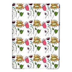 Handmade Pattern With Crazy Flowers iPad Air Hardshell Cases