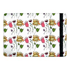 Handmade Pattern With Crazy Flowers Samsung Galaxy Tab Pro 10 1  Flip Case