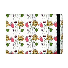 Handmade Pattern With Crazy Flowers iPad Mini 2 Flip Cases