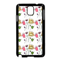 Handmade Pattern With Crazy Flowers Samsung Galaxy Note 3 Neo Hardshell Case (Black)