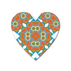Digital Computer Graphic Geometric Kaleidoscope Heart Magnet