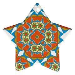 Digital Computer Graphic Geometric Kaleidoscope Star Ornament (two Sides)