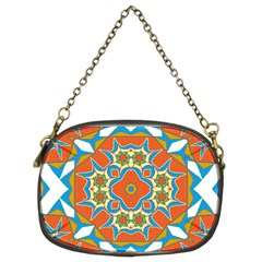 Digital Computer Graphic Geometric Kaleidoscope Chain Purses (Two Sides)