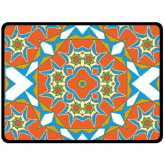 Digital Computer Graphic Geometric Kaleidoscope Fleece Blanket (Large)