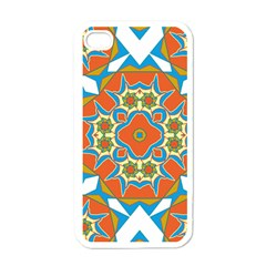 Digital Computer Graphic Geometric Kaleidoscope Apple iPhone 4 Case (White)
