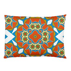 Digital Computer Graphic Geometric Kaleidoscope Pillow Case (Two Sides)