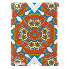 Digital Computer Graphic Geometric Kaleidoscope Apple iPad 3/4 Hardshell Case (Compatible with Smart Cover)