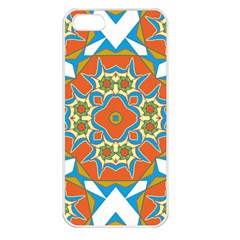 Digital Computer Graphic Geometric Kaleidoscope Apple iPhone 5 Seamless Case (White)