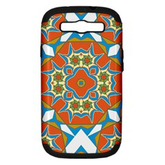 Digital Computer Graphic Geometric Kaleidoscope Samsung Galaxy S III Hardshell Case (PC+Silicone)