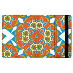Digital Computer Graphic Geometric Kaleidoscope Apple iPad 3/4 Flip Case
