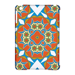 Digital Computer Graphic Geometric Kaleidoscope Apple Ipad Mini Hardshell Case (compatible With Smart Cover)