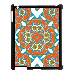 Digital Computer Graphic Geometric Kaleidoscope Apple iPad 3/4 Case (Black)