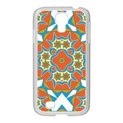 Digital Computer Graphic Geometric Kaleidoscope Samsung Galaxy S4 I9500/ I9505 Case (white)