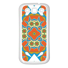 Digital Computer Graphic Geometric Kaleidoscope Samsung Galaxy S3 Back Case (White)