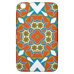 Digital Computer Graphic Geometric Kaleidoscope Samsung Galaxy Tab 3 (8 ) T3100 Hardshell Case